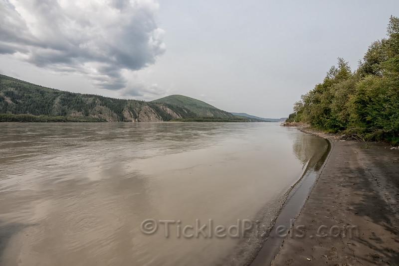 Looking Downstream from Moosehide