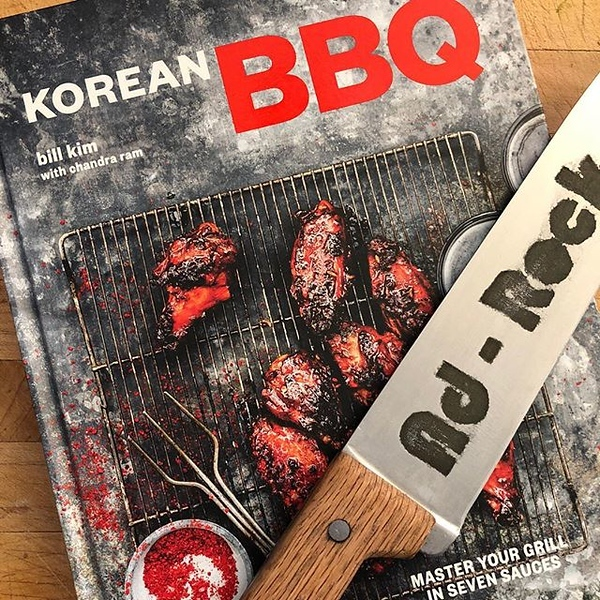 Excited to get to break this one in ASAP — thinking Korean BBQ Skirt Steak or Seoul to Buffalo Shrimp out of the gate. Congrats @chefbillkim on your great new book!