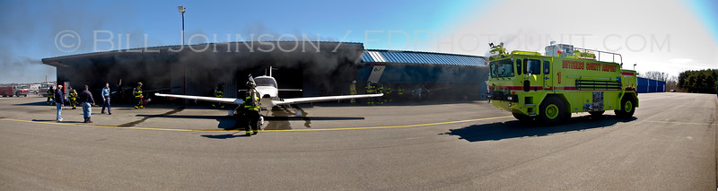Structure Fire - Richmor Aviation Hanger - Dutchess County Airport - New Hackensack Fire District - 3/30/08