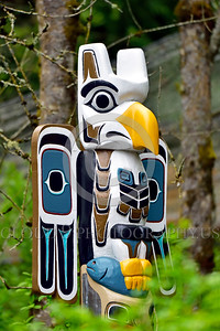 Pictures of Totem Poles—Northwest American and Canadian Indigenous Indian Cultural Art