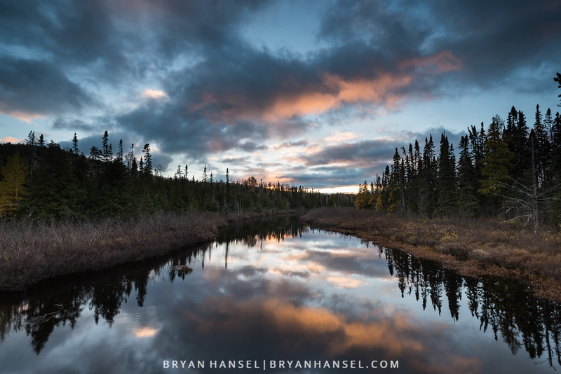 Late Fall Sunset over Brule River