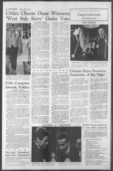 Daily Trojan, Vol. 53, No. 106, April 09, 1962