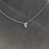 0.48ct 18kt White Gold Rose Cut Bezel Pendant 10
