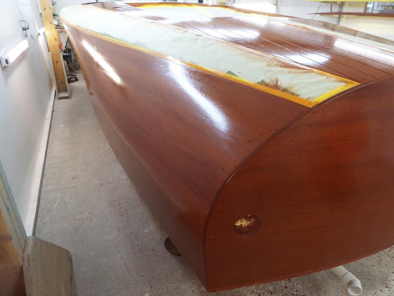 Rear port side with sealer applied.