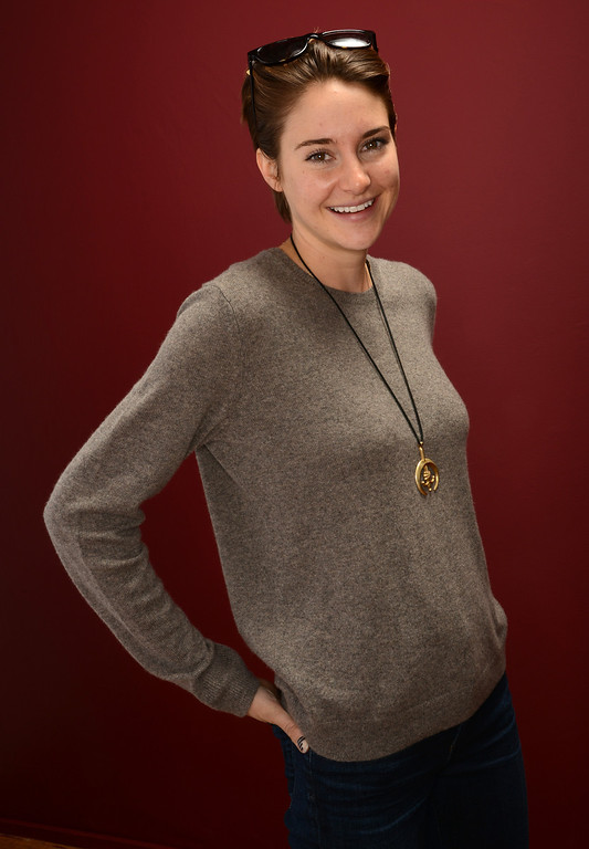. Actress Shailene Woodley poses for a portrait during the 2014 Sundance Film Festival at the Getty Images Portrait Studio at the Village At The Lift on January 20, 2014 in Park City, Utah.  (Photo by Larry Busacca/Getty Images)
