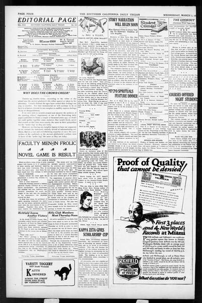 Daily Trojan, Vol. 17, No. 100, March 03, 1926