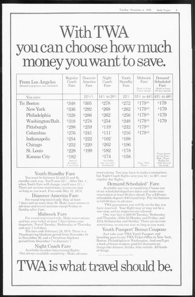 Daily Trojan, Vol. 66, No. 34, November 06, 1973