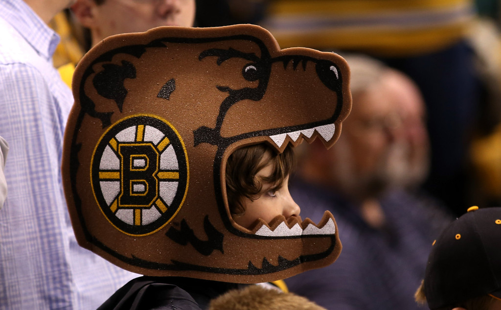 . BOSTON, MA - JUNE 07: A young Boston Bruins fan looks on prior to Game Four of the Eastern Conference Final against the Pittsburgh Penguins during the 2013 NHL Stanley Cup Playoffs at the TD Garden on June 7, 2013 in Boston, United States.  (Photo by Bruce Bennett/Getty Images)