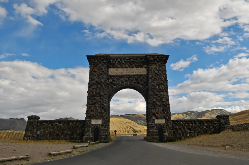 North entrance to Yellowstone National Park.