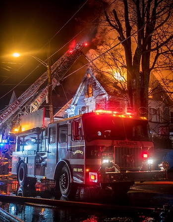 3 Alarm Structure Fire - 87-89 Saunders St, Lawrence, MA - 12/24/16