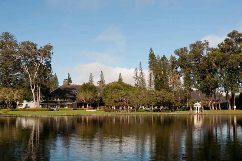 Japanese garden in Four Seasons Resort - Lanai, Hawaii