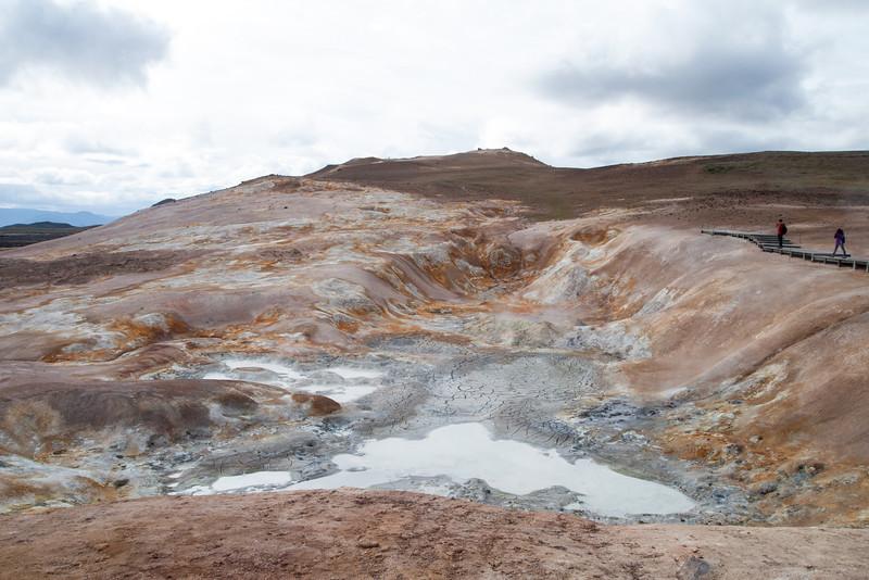 Sulphur mud pots at the Viti Crater