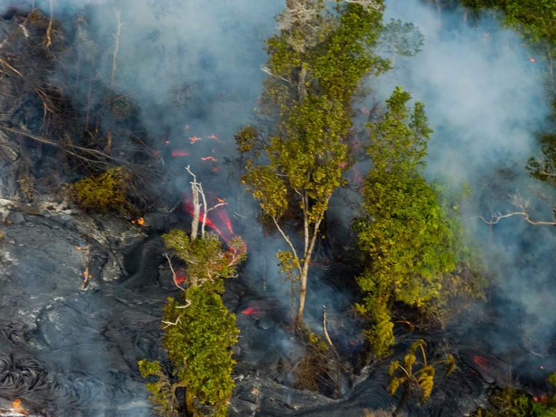 Lava flows near Kilauea.