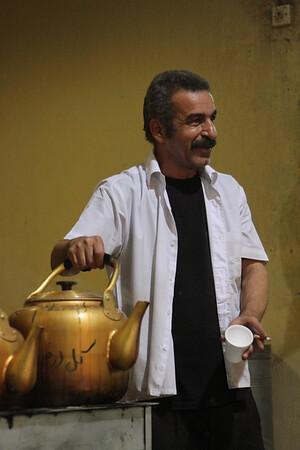 Tea seller in Kuwait City souk, Kuwait