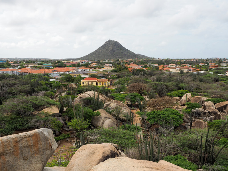 View from Casibari Rock Formation in Aruba