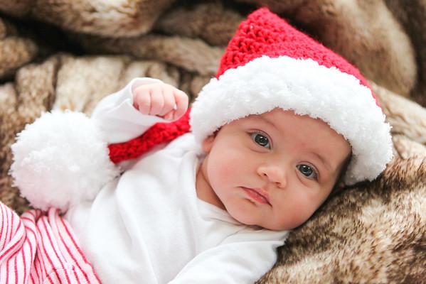 Kasey Santa Hat Christmas 2014