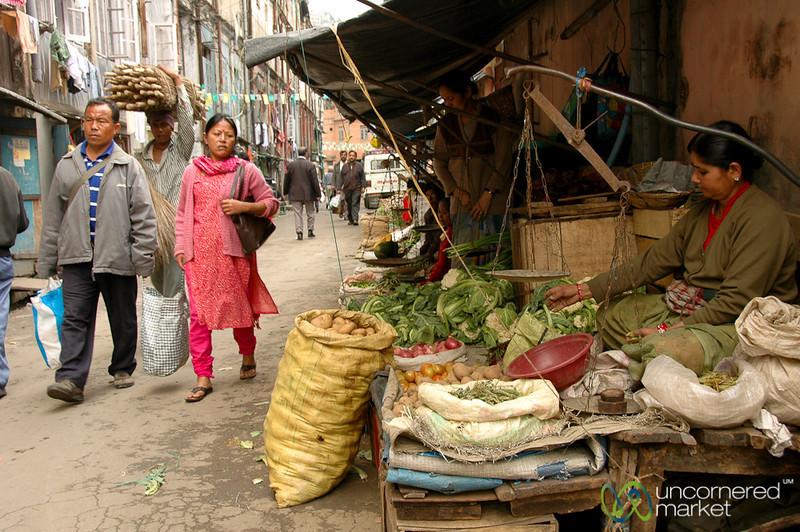 Market Street in Darjeeling, India