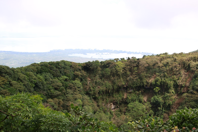 View of Lake Nicaragua from hike on Mombacho volcano