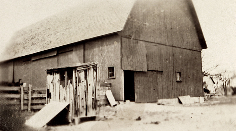 The back of our Barn in the 30's.JPG