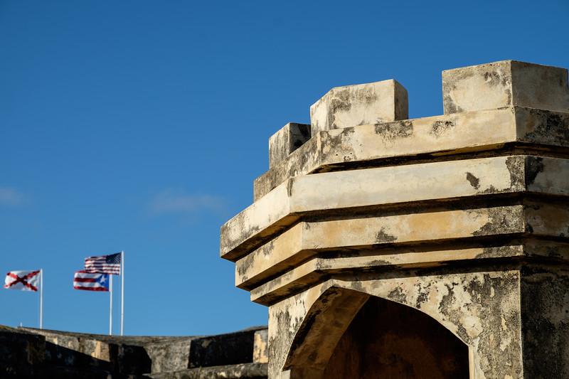 Parapet and Flags