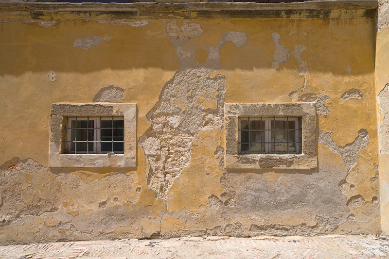 Ancient Ochre Colored Wall