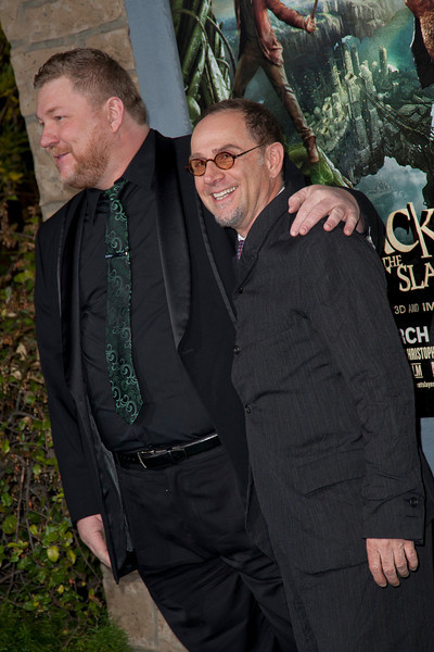 HOLLYWOOD, CA - FEBRUARY 26: Writer Dan Studney and actor John Kassir attend the premiere of New Line Cinema's 'Jack The Giant Slayer' at TCL Chinese Theatre on Tuesday, February 26, 2013 in Hollywood, California. (Photo by Tom Sorensen/Moovieboy Pictures)