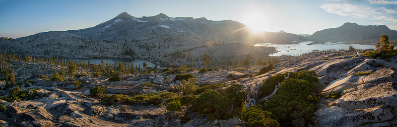 The Crystal Range stands above Desolation Valley in the Desolation Wilderness near Lake Tahoe.