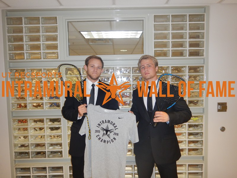 Spring 2016 Racquetball Men's B Doubles Champion We will racq you