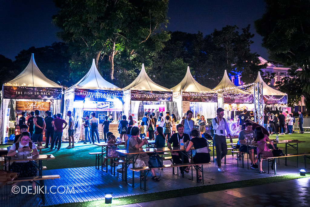 Singapore Night Festival 2018 – Performances / Festival Village food 2