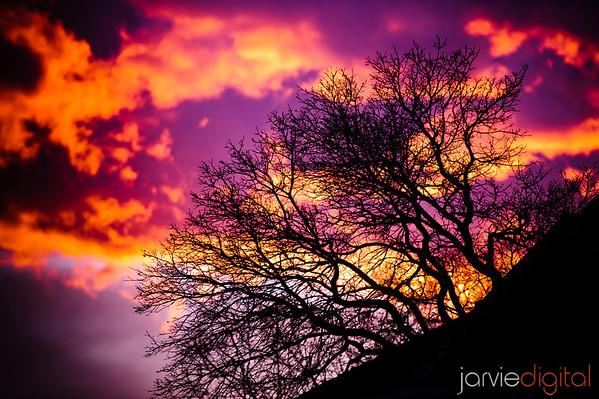 Amazing Sunset in Lehi Utah