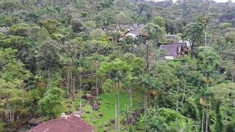 An aerial view of the Hotel do Ype in Brazil's Itatiaia National Park. by guide Marcelo Barreiros