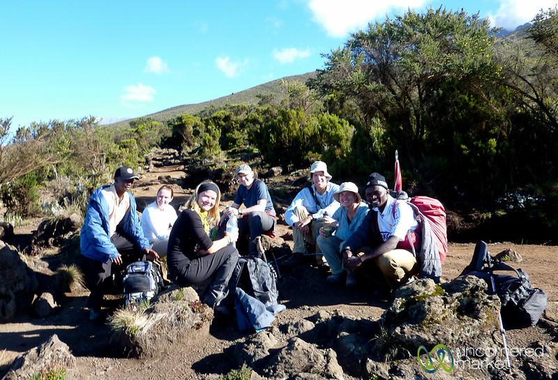 Water Break Near Horombo Huts - Mt. Kilimanjaro, Tanzania