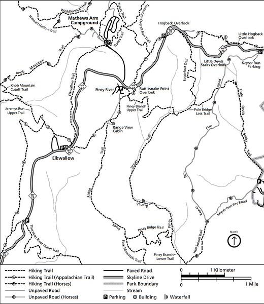Shenandoah National Park (Trails - Keyser Run Area)