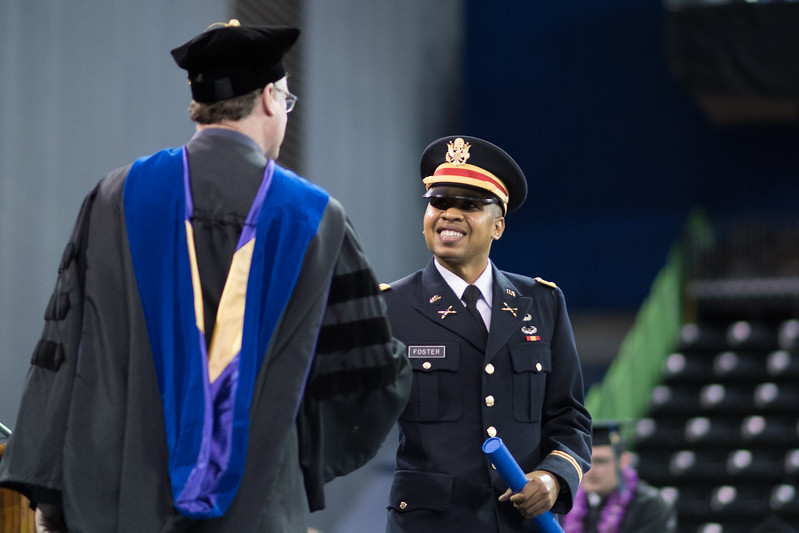 Tyris Foster. Over 1,100 graduates received their degrees during two commencement ceremonies held on May 13.