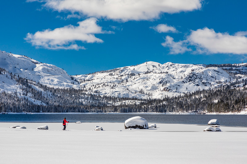 Women Snowshoer Donner LAke