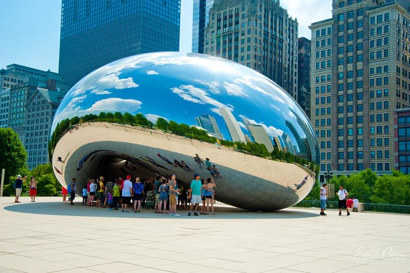 It's a huge mirrored bean.