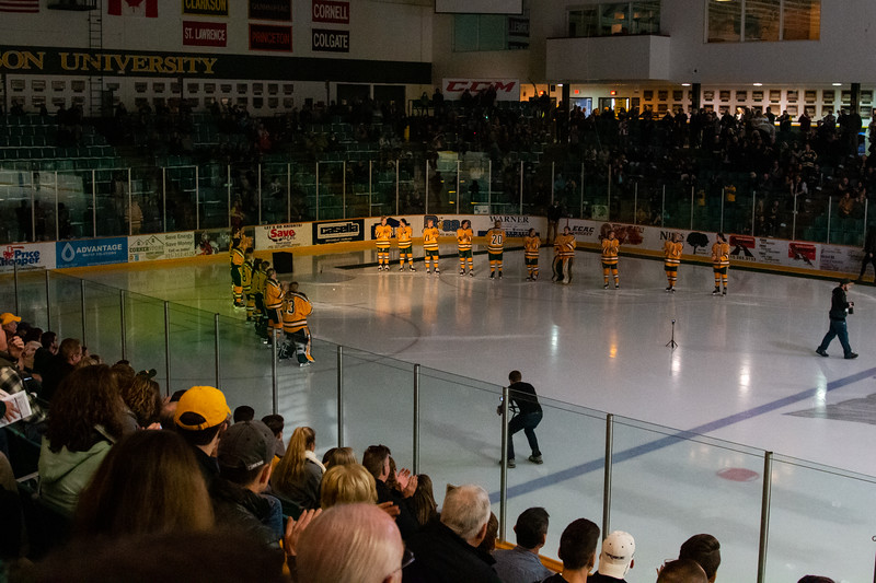 Home Game vs. St. Lawrence 10/20/18 (Banner Raising)