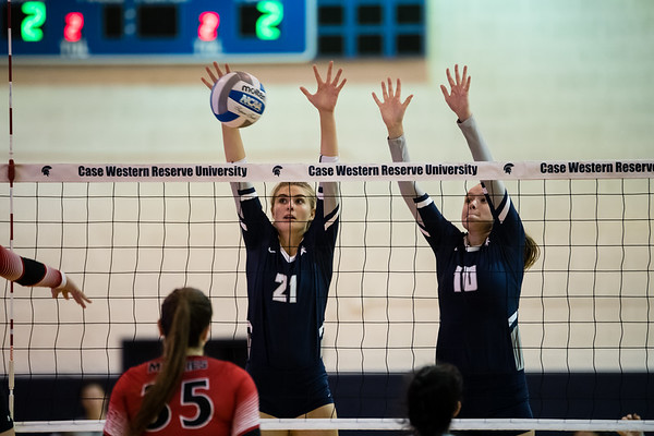 CWRU vs Muskingum Volleyball 9-7-19