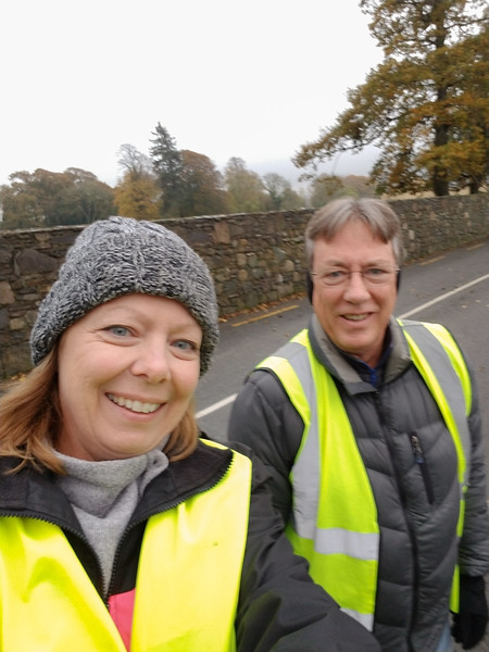 The homeowner made sure we wore our visibility vests when walking to the pub for dinner.  We soon saw why; walking home it was BLACK outside, couldn't see your hand in front of your face.