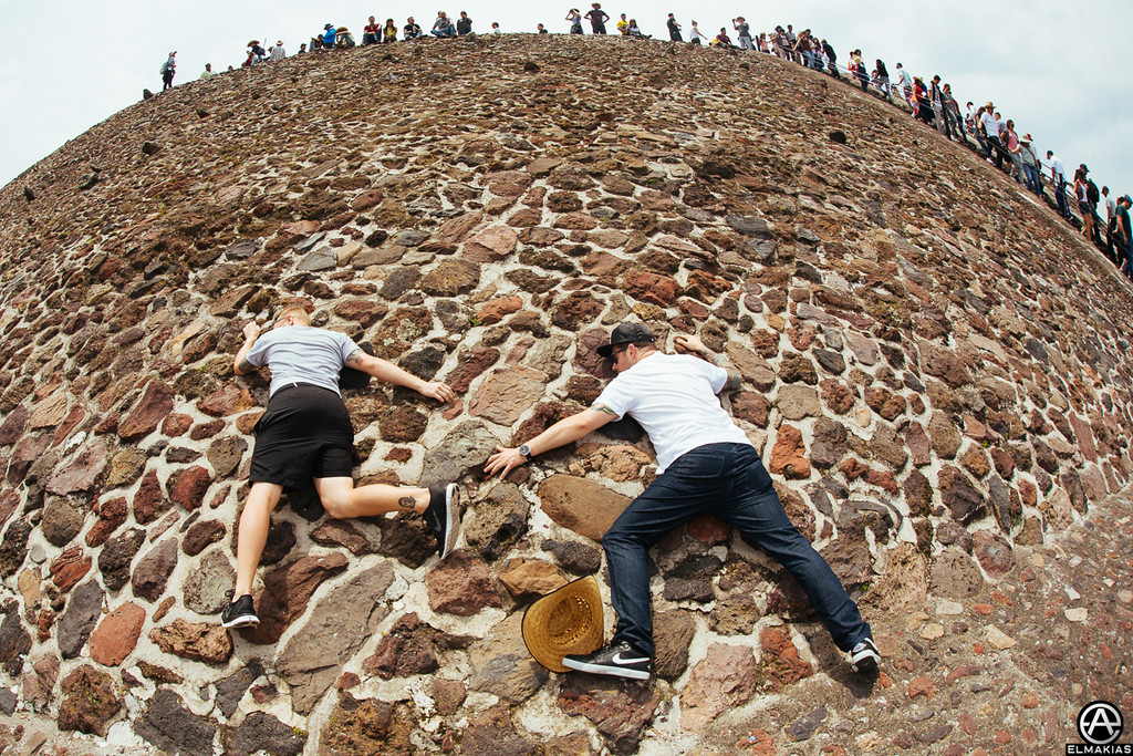 Kevin Skaff and Josh Woodard of A Day To Remember on the Teotihuacan Pyramids by Adam Elmakias