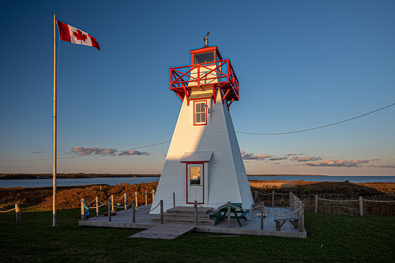 Canadian flag with Wood Islands Rear Range Light.jpg