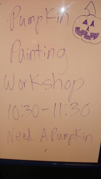 Pumpkin Painting Workshop 2009
