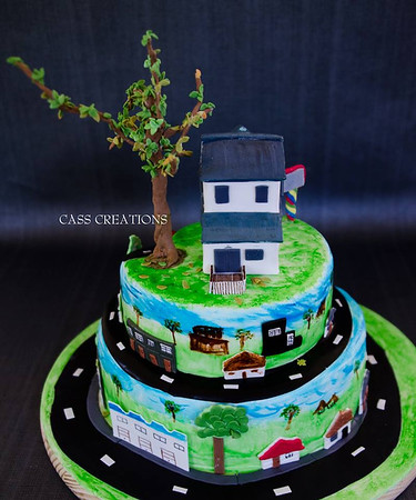 House on the hill Cake