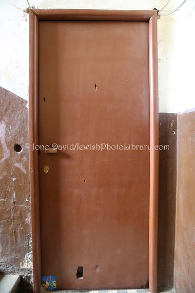 ERITREA, Asmara. Home door (former), Shimon Kazen Yehiya Cohen (building owned by Moshe Awad (Sami Cohen's grandfather) (3.2015)