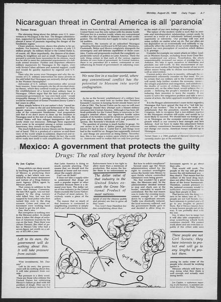 Daily Trojan, Vol. 102, No. 1, August 25, 1986
