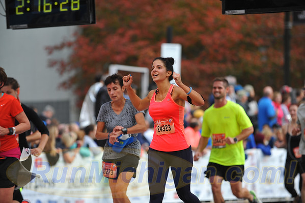 International Half Finish Line, Gallery 2 - 2016 Detroit Marathon
