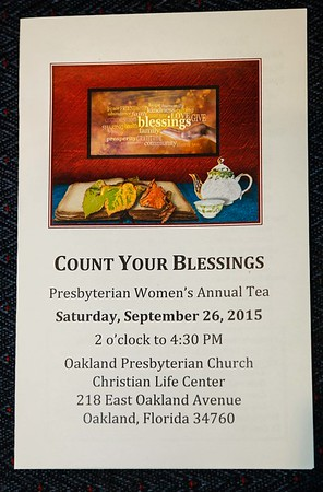 Women's Tea 2015 - Count Your Blessings