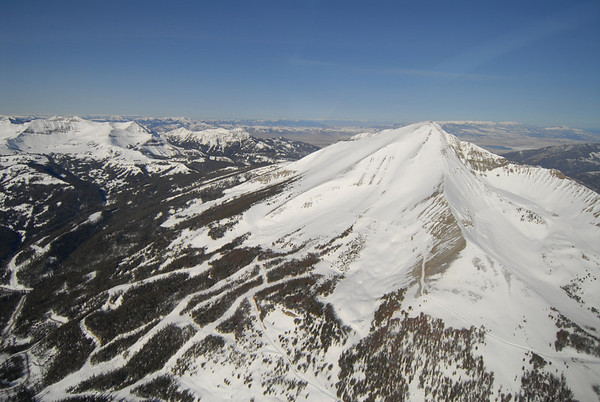Big Sky - Lone Mountain - Moonlight Ski Area Aerials