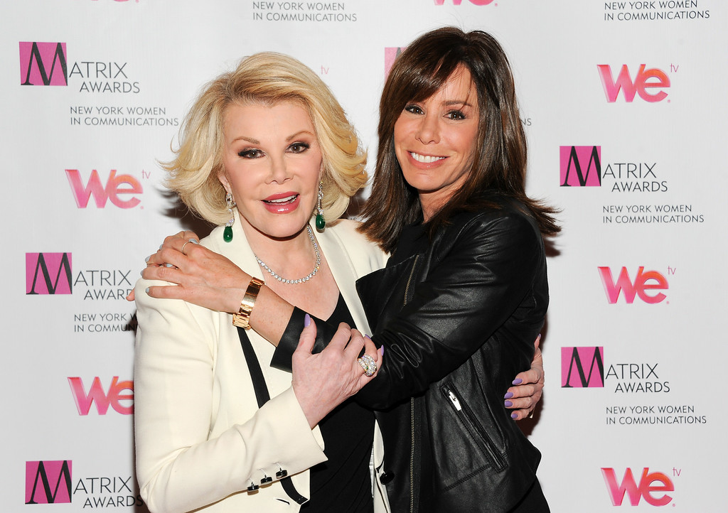 . In this April 22, 2013 file photo, Television personalities Joan Rivers, left, and daughter Melissa Rivers attend the 2013 Matrix New York Women in Communications Awards at the Waldorf-Astoria Hotel, in New York.  (Photo by Evan Agostini/Invision/AP, file)