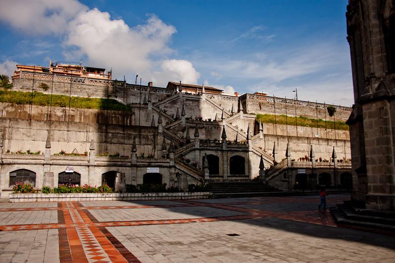Court Yard in Basílica del Voto Nacional  in Quito Ecuador